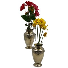Pair of Boin-Taburet French Gilt Silver Centerpiece Vases