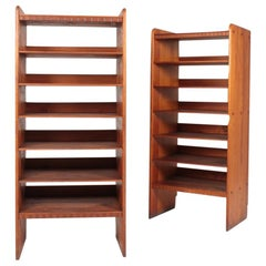 Pair of Bookcases in Patinated Pine Designed by Martin Nyrup for Rud Rasmussen