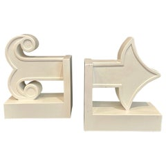 Pair of Bookends Happy Chic White Arrow
