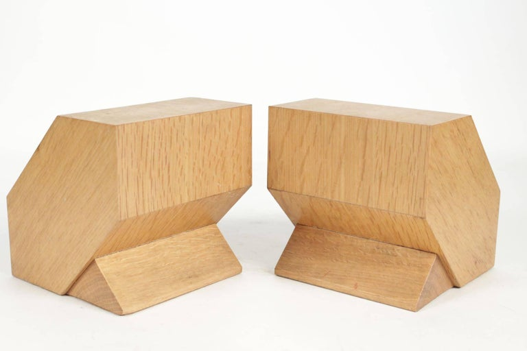 Pair of Bookends in Light Oak, circa 1960, Midcentury, Vintage Design For Sale 2