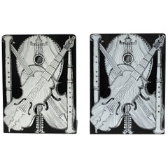 Pair of Bookends 'Strumenti Musicali' by Piero Fornasetti, 1950-1960