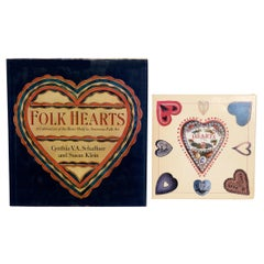 Pair of Books on American Folk Art Hearts, Both Are Stated First Edition's