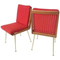 Pair of Boomerang Chairs by Hans Mitzlaff for Eugen Schmidt Soloform, 1953