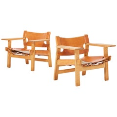 Pair of Børge Mogensen Spanish Chairs, Denmark
