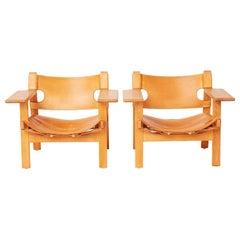 "Pair of Borge Mogensen ""The Spanish Chair"""