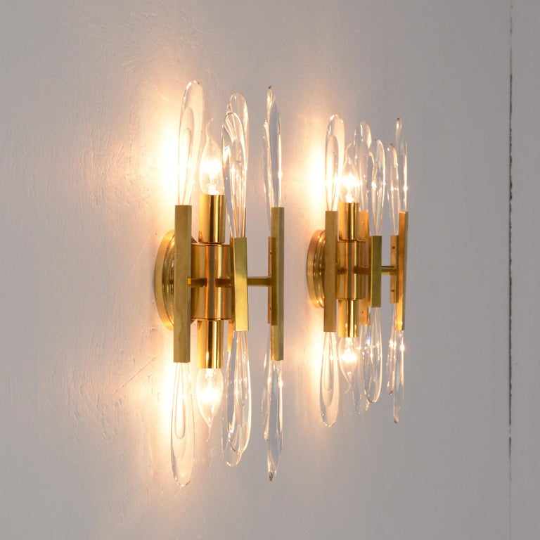 Late 20th Century Pair of Boulanger Wall Sconces For Sale