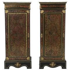 Pair of Boule Cabinets Napoleon III, 19th Century