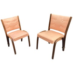 "Pair of ""Bow Wood"" Series Chairs Edited by Steiner, circa 1950"