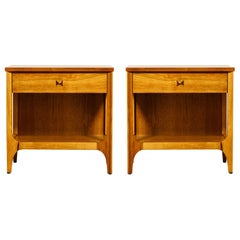 Pair of 'Brasilia' Bedside Tables by Broyhill Premiere, Refinished, 1960s