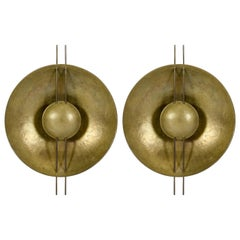 Pair of Brass 1980s Sconces
