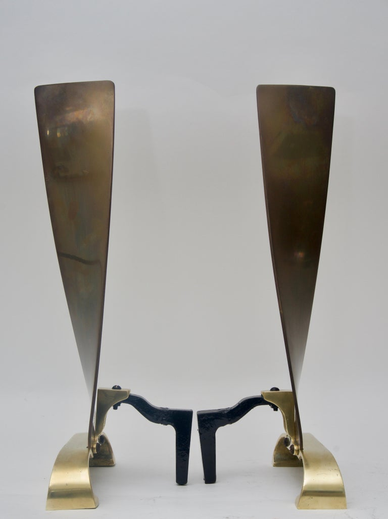 Pair of Brass Andirons For Sale 1