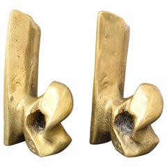 Pair of Brass Bookends by David Marshall, 'circa 1980s'