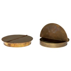 Pair of Brass Boxes Manufactured by Azucena