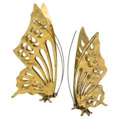 Pair of Brass Butterflies