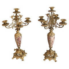 Pair of  Brass Candleholders