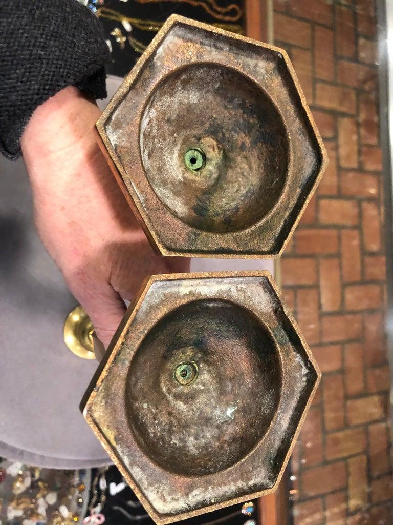 Pair of Brass Candlesticks 17