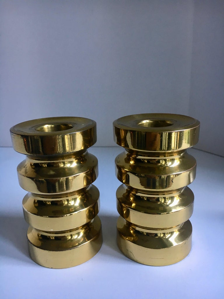 20th Century Pair of Brass Candlesticks For Sale