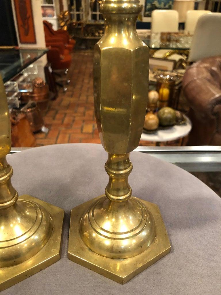 Pair of Brass Candlesticks 5