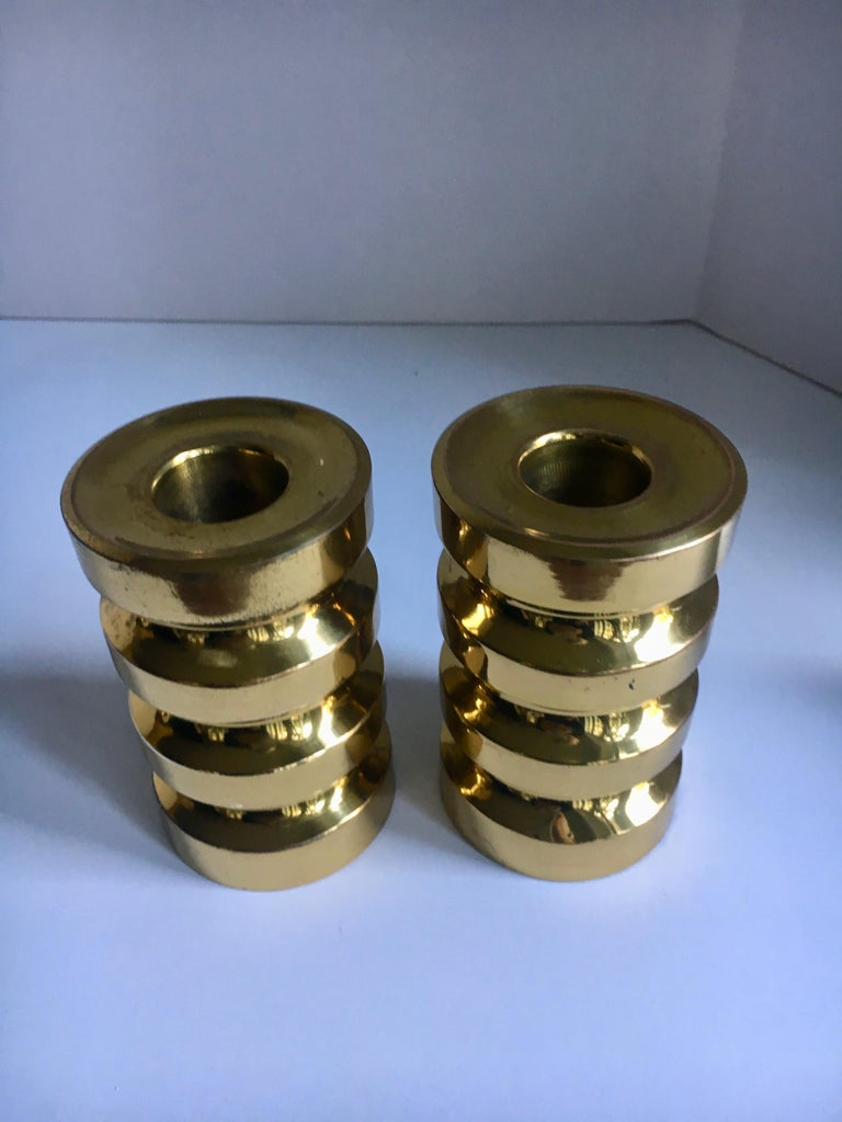 Pair of Brass Candlesticks For Sale 1