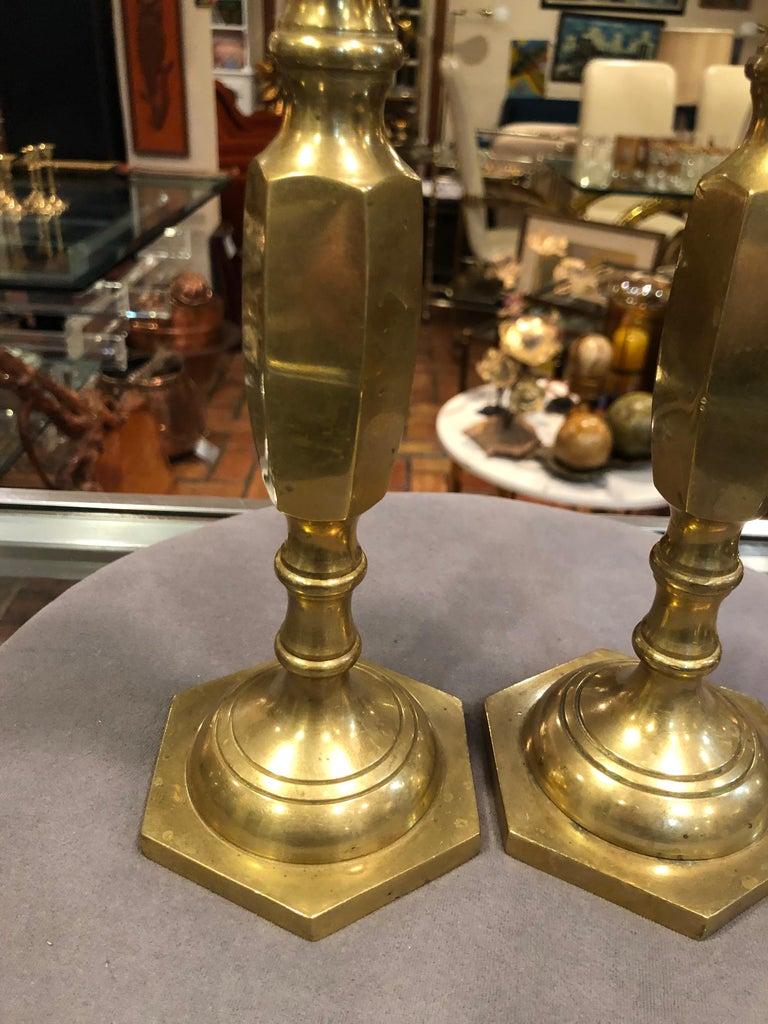 Pair of Brass Candlesticks 6