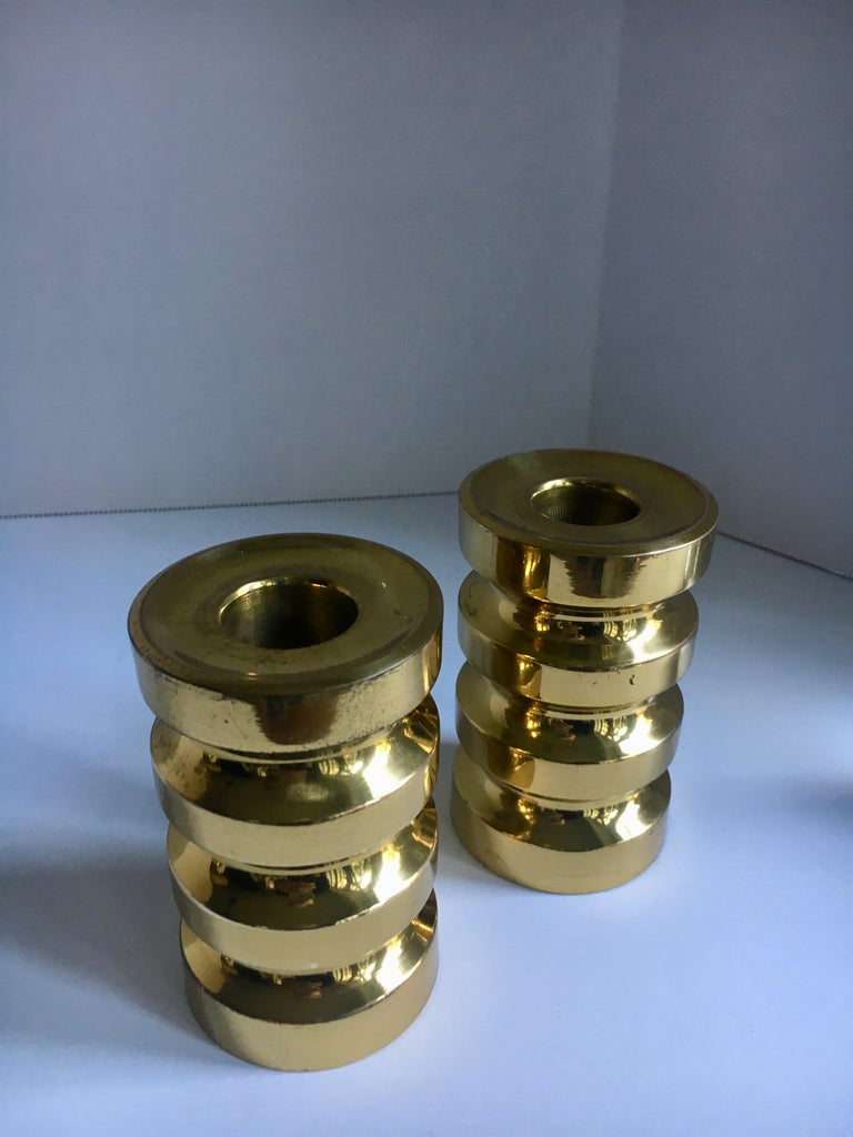 Pair of Brass Candlesticks For Sale 2