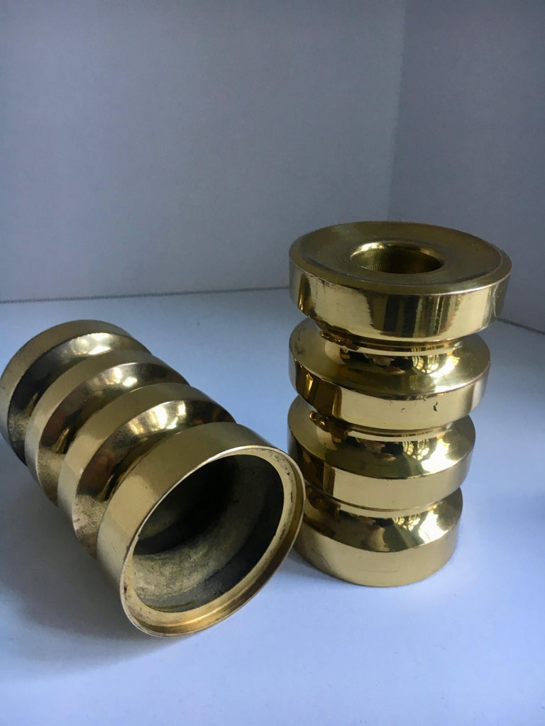 Pair of Brass Candlesticks For Sale 3