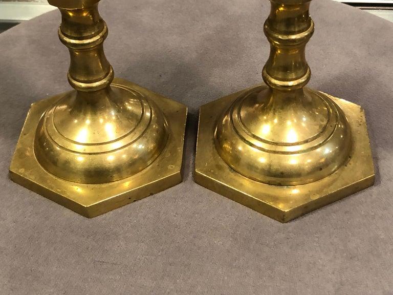 Pair of Brass Candlesticks 8