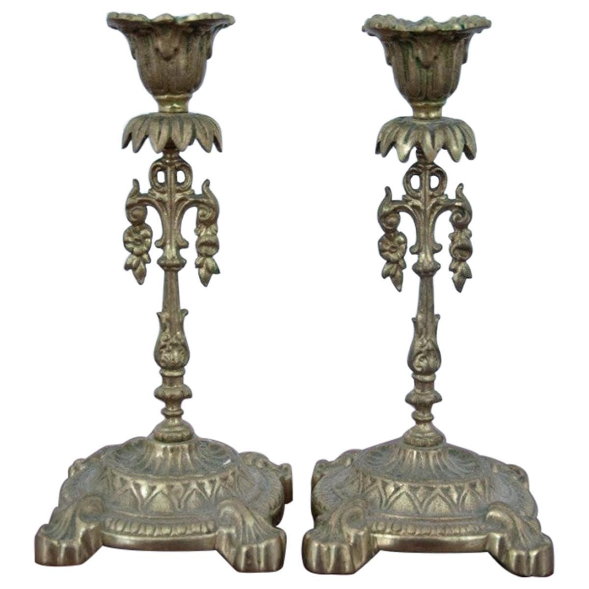 Pair of Brass Candlesticks