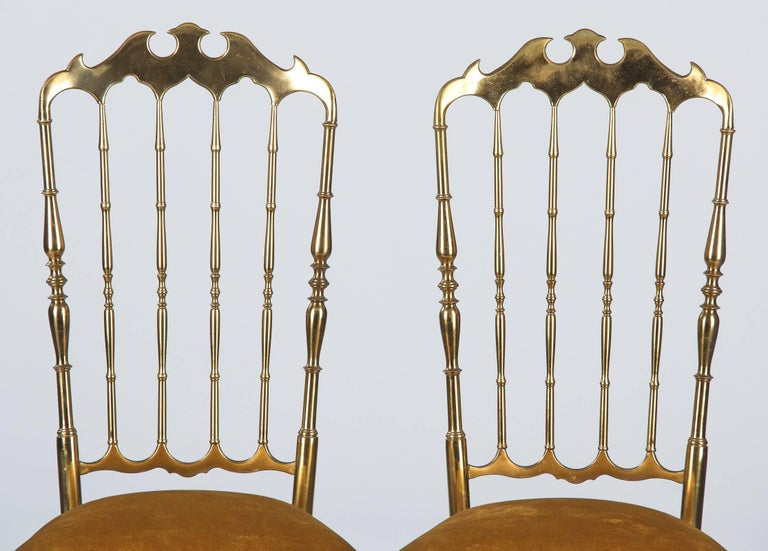Pair of Brass Chiavari Chairs, Italy, 1960s For Sale 6
