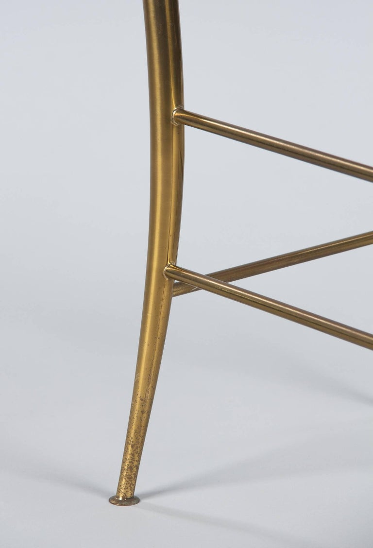 Pair of Brass Chiavari Chairs, Italy, 1960s For Sale 10