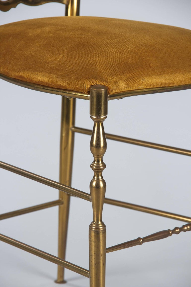 Pair of Brass Chiavari Chairs, Italy, 1960s For Sale 2