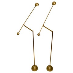 Pair of Brass Counter Balance Floor Lamps