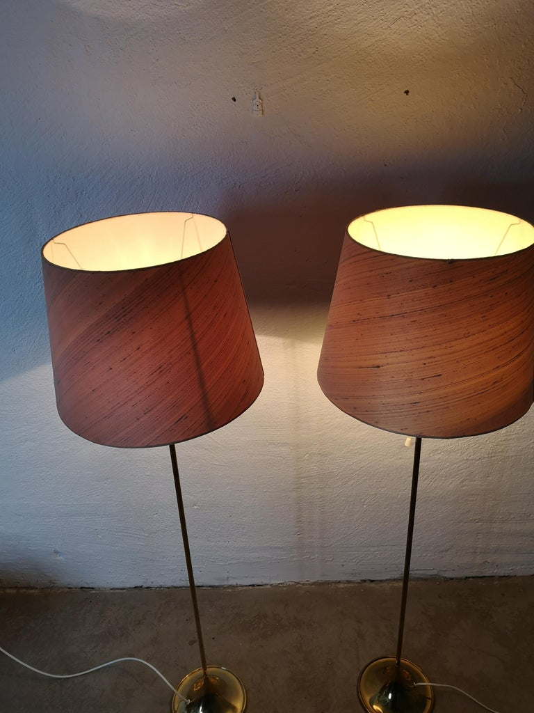 Pair of Brass Floor Lamps Bergboms G-025 For Sale 4