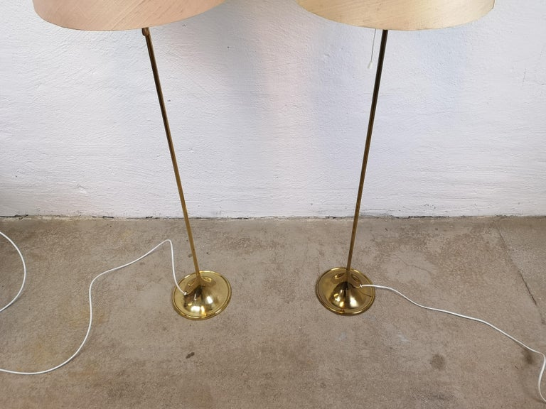 Pair of Brass Floor Lamps Bergboms G-025 For Sale 1
