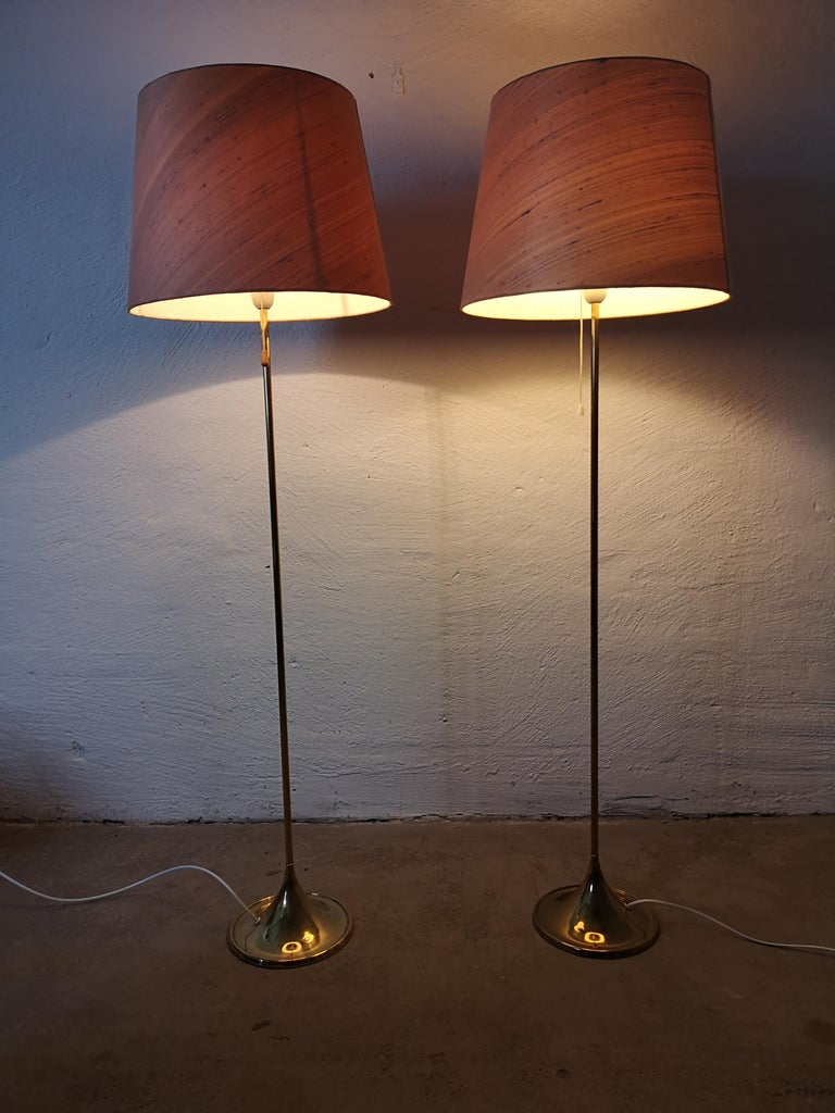 Pair of Brass Floor Lamps Bergboms G-025 For Sale 3