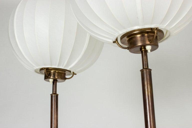 Pair of Brass Floor Lamps by Bertil Brisborg for Nordiska Kompaniet 4