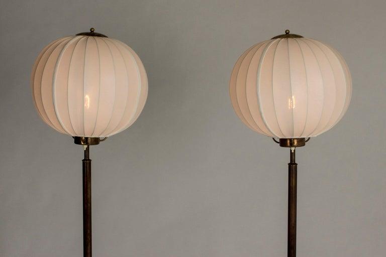 Scandinavian Modern Pair of Brass Floor Lamps by Bertil Brisborg for Nordiska Kompaniet