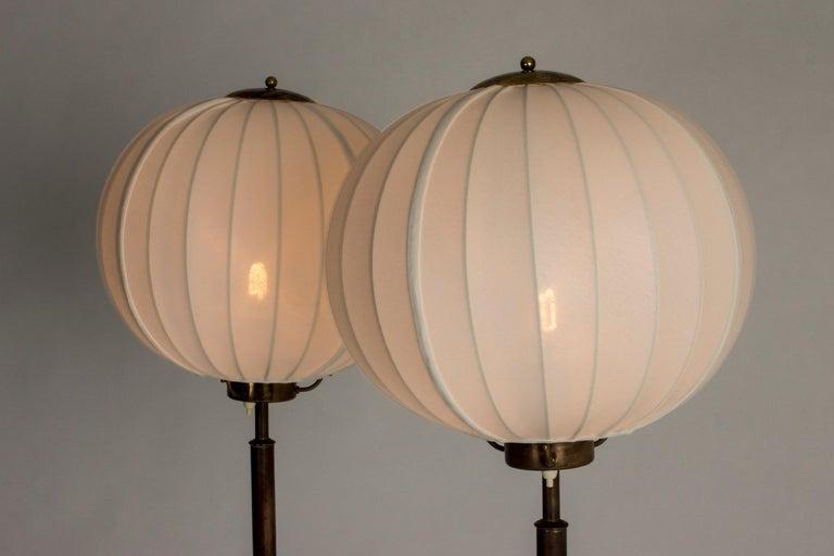 Swedish Pair of Brass Floor Lamps by Bertil Brisborg for Nordiska Kompaniet