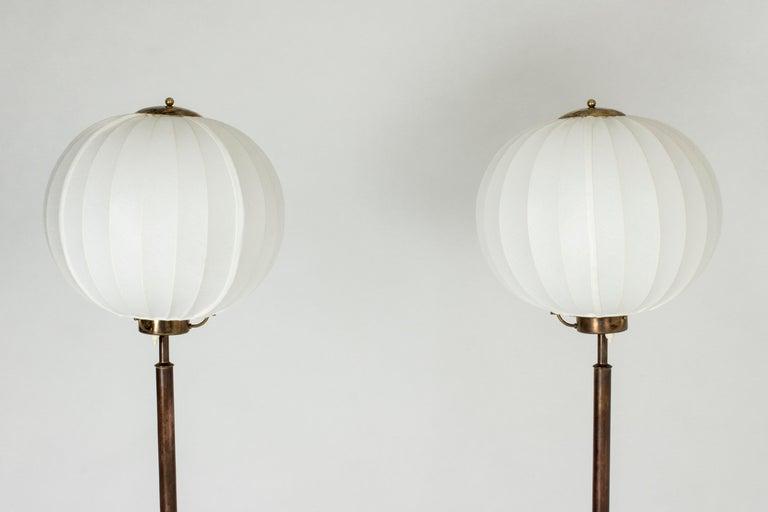 Pair of Brass Floor Lamps by Bertil Brisborg for Nordiska Kompaniet In Good Condition In Stockholm, SE