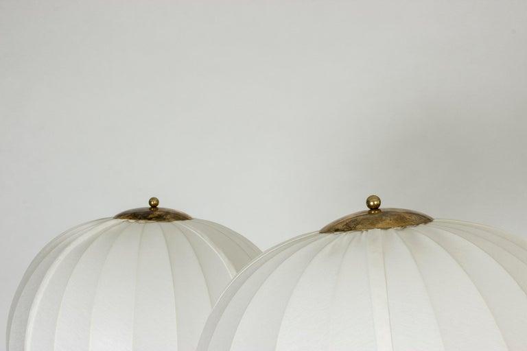 Mid-20th Century Pair of Brass Floor Lamps by Bertil Brisborg for Nordiska Kompaniet