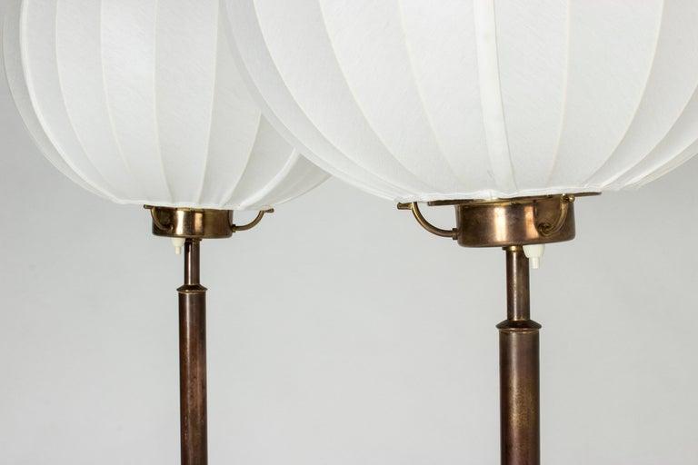 Pair of Brass Floor Lamps by Bertil Brisborg for Nordiska Kompaniet 1