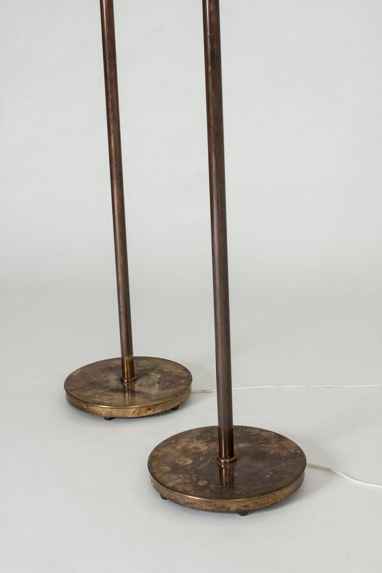 Pair of Brass Floor Lamps by Bertil Brisborg for Nordiska Kompaniet 2