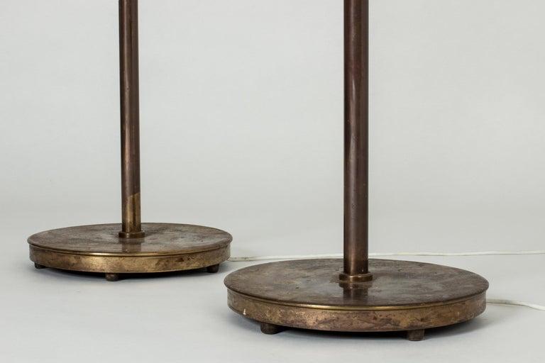 Pair of Brass Floor Lamps by Bertil Brisborg for Nordiska Kompaniet 3
