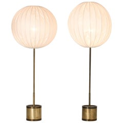 Pair of Brass Floor Lamps by Hans-Agne Jakobsson