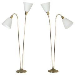 Pair of Brass Floor Lamps by Sonja Katzin