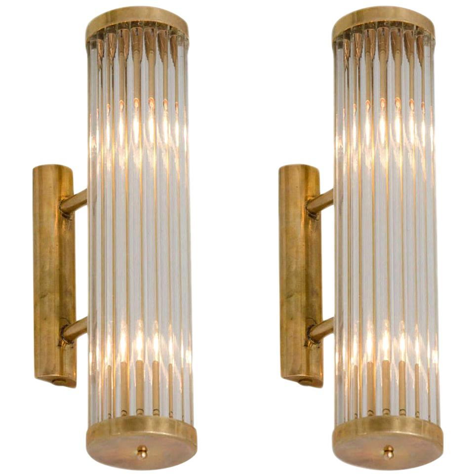 Pair of brass Italian Arm Wall Lights