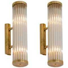 Pair of brass Italian Arm Wall Lights