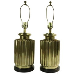 Pair of Brass Lamps by Frederick Cooper