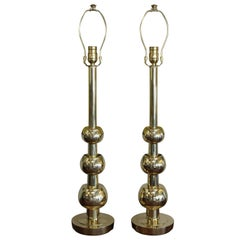 Pair of Brass Lamps by the Stiffel Lamp Company