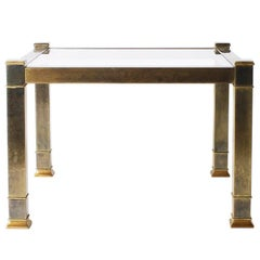 Pair of Brass Mastercraft Side Tables with Glass Tops, circa 1960